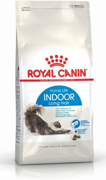 Royal Canin Indoor Long Hair (сухой корм) для домашних длинношерстных кошек